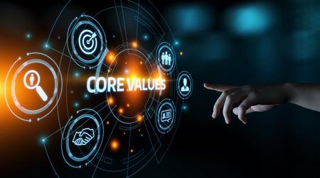 Valeurs fondamentales Responsabilité Objectifs éthiques Concept d'entreprise.
