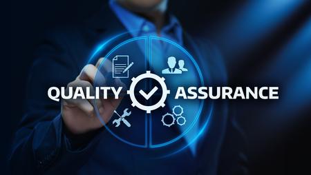 Quality Assurance Service Guarantee Standard Internet Business Technology Concept. Stock Photo