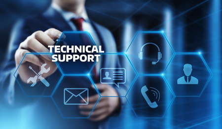 Technical Support Customer Service Business Technology Internet Concept. Stock Photo
