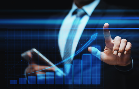 Financial Graph. Stock Market chart. Forex Investment Business Internet Technology concept. Stock Photo