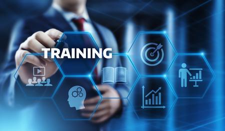 Training Webinar E-learning Skills Business Internet Technology Concept. Stock Photo