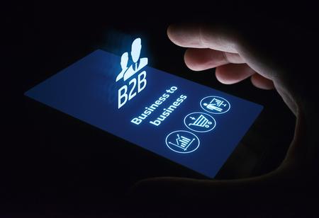 B2B Business Company Commerce Technology Marketing concept. Stock Photo