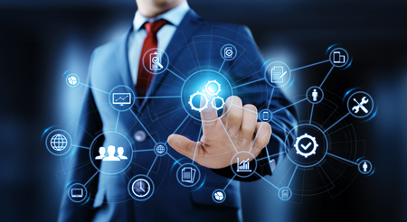 Automation Software Technology Process System Business concept. Stock Photo
