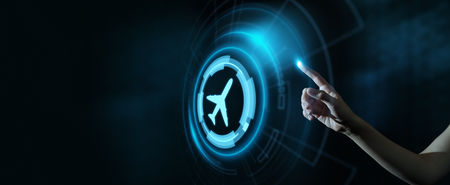 Business Technology Travel Transportation concept with planes. Imagens