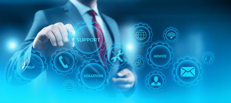 Centro de soporte técnico Servicio al cliente Concepto de tecnología empresarial de Internet.
