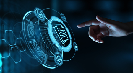 Document Management Data System Business Internet Technology Concept. Archivio Fotografico