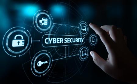 Concetto di segretezza di tecnologia di affari di protezione dei dati di cyber sicurezza.