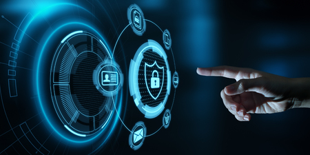 Data protection Cyber Security Privacy Business Internet Technology Concept. Imagens - 116137239