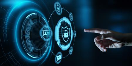 Datenschutz Cybersicherheit Datenschutz Business Internet Technology Concept. Standard-Bild