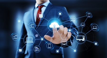 Cloud Computing Technology Internet Storage Network Concept. Stock Photo