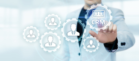 CRM Customer Relationship Management Business Internet Techology Concept. Stock Photo