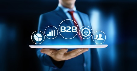 B2B Business Company Commerce Technology Marketing concept. Stock Photo