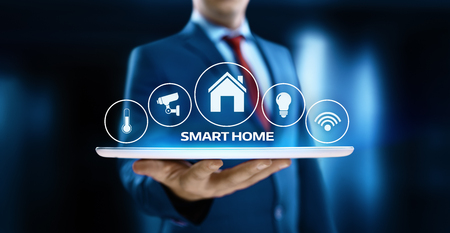 Smart home Automation Control System. Innovation technology internet Network Concept. Stock Photo
