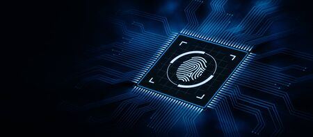 Fingerprint scan security access with biometrics identification