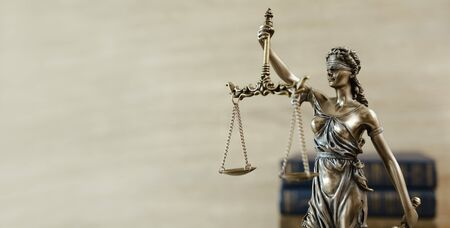 Themis Statue Justice Scales Law Lawyer Concept.