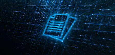 Document Management Data System Business Technology Concept.