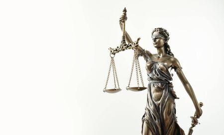 Themis Statue Justice Échelles Droit Avocat Concept