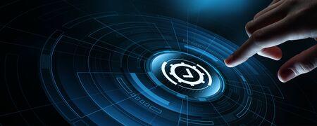 Standard di controllo di qualità Certificazione Garanzia Internet Business Technology Concept