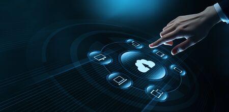 Cloud Computing Technology Internet Storage Network Concept. Stock Photo