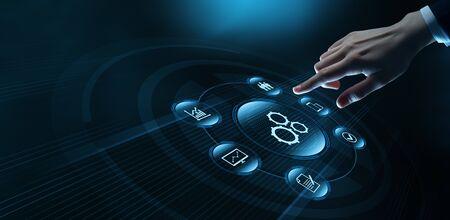 Automation Software Technology Process System Business concept. Stok Fotoğraf