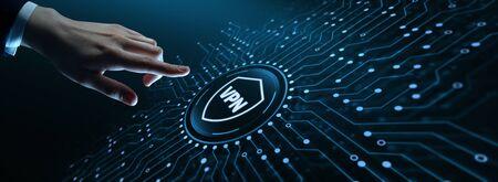 VPN network security internet privacy encryption concept 版權商用圖片
