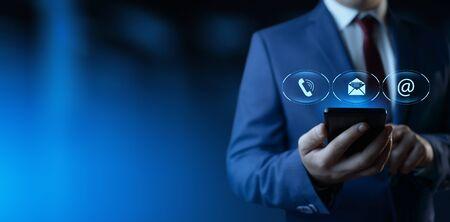 Centro de soporte técnico Servicio al cliente Concepto de tecnología empresarial de Internet