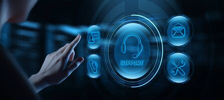 Technical Support Center Customer Service Internet Concept