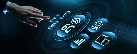 6G Network Internet Mobile Wireless Business concept 스톡 콘텐츠