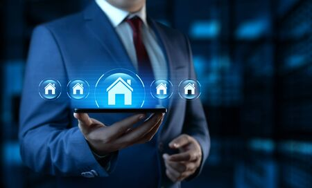 Real Estate Mortgage Property Management Rent Buy concept Stock Photo