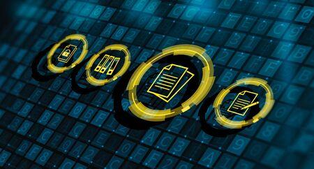 Document Management Data System Business Internet Concept.