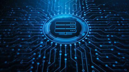 Server Network Data Business Internet Technology Concept.