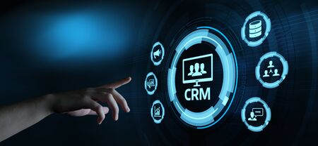 CRM Customer Relationship Management Business Internet Techology Concept 스톡 콘텐츠