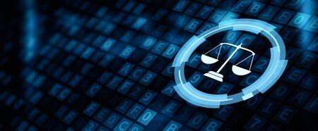 Derecho Laboral Abogado Negocio Legal Concepto de tecnología de Internet