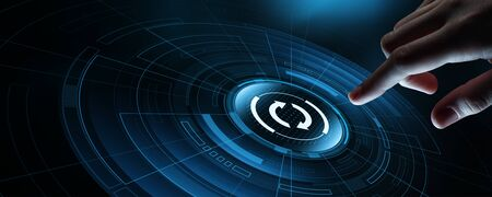 Update Software Computer Program Upgrade Business technology Internet Concept