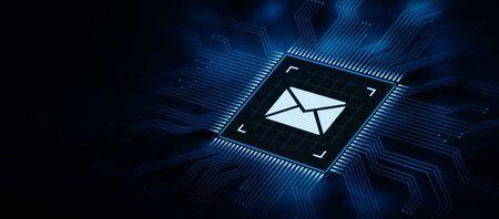 Bericht E-mail Mail communicatie Online Chat Business Internet technologie netwerk Concept Stockfoto