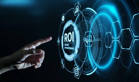 ROI Return on Investment Finance Profit Success Internet Business Technology Concept