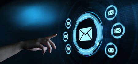 Message Email Mail Communication Online Chat Business Internet Technology Network Concept 스톡 콘텐츠