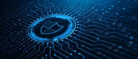 Protección de datos Cyber Security Privacy Business Internet Technology Concept Foto de archivo