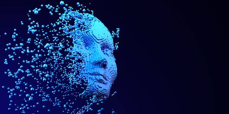 Brain AI Artificial intelligence Machine Learning Abstract Head Business Internet Technology Concept.