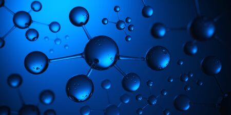 Molecule Atom Model Abstract structure science and medical concept