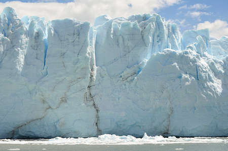 los glaciares: GLACIER,  GLOBAL WARMING,PERITO MORENO,  EL CALAFATE,PATAGONIA,ARGENTINA Stock Photo