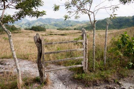 Wood  bard  door,Chiapas,Mexico Stock Photo
