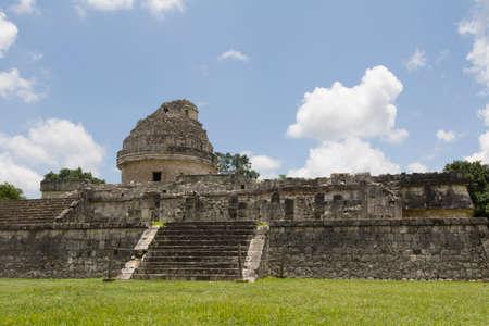 The observatory Chichen Itza, Yucatan, Mexico Stock Photo