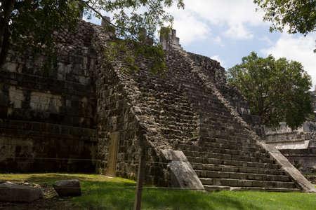 The Osario pyramid in  Chichen Itza, Mexico Yucatan