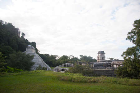 Archaeological zone of Palenque 写真素材