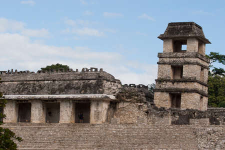 first nations: Archaeological zone of Palenque Editorial