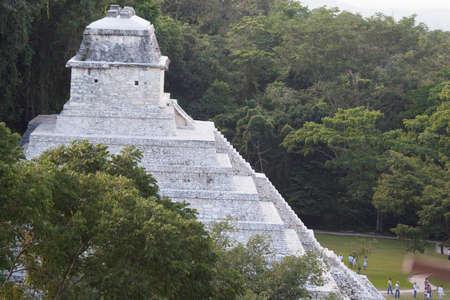 碑文の神殿、Pakal の墓。 パレンケ, チアパス州, メキシコ 写真素材