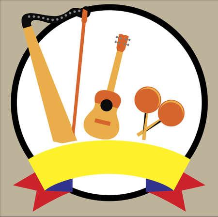 Venezuelan musical  instruments 版權商用圖片 - 132031751