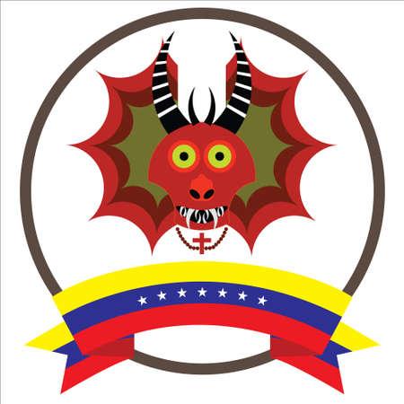 Diablos de Yare, Yare Devils Mask with seven stars Venezuela's flag.