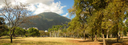 Beautiful view of Avila Mountain  from the East Park Caracas Venezuela